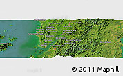 Satellite Panoramic Map of Ranong