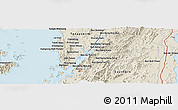 Shaded Relief Panoramic Map of Ranong