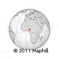 Outline Map of Fadan Toro Primary School, rectangular outline