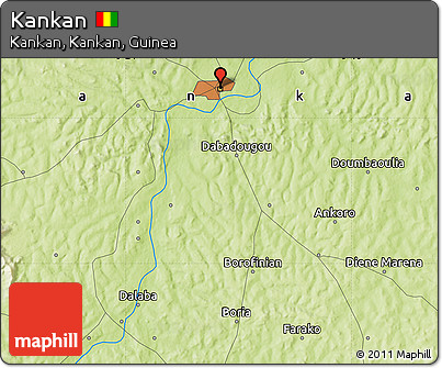 Physical Map of Kankan