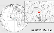 """Blank Location Map of the area around 10°38'32""""N,0°4'30""""E"""