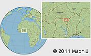 "Savanna Style Location Map of the area around 10°38'32""N,0°4'30""E"
