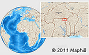 """Shaded Relief Location Map of the area around 10°38'32""""N,0°4'30""""E"""