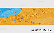 """Political Panoramic Map of the area around 10°38'32""""N,0°4'30""""E"""