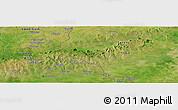 "Satellite Panoramic Map of the area around 10°38'32""N,0°4'30""E"