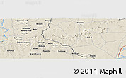 """Shaded Relief Panoramic Map of the area around 10°38'32""""N,0°4'30""""E"""