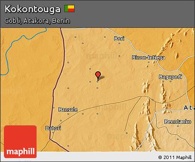 Political 3D Map of Kokontouga
