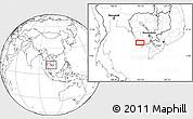 Blank Location Map of Kâmpôt