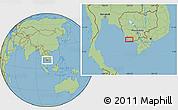 Savanna Style Location Map of Kâmpôt