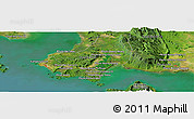 Satellite Panoramic Map of Phumĭ Bœ̆ng Tapréam