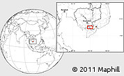 Blank Location Map of Châu Ðốc