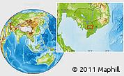 Physical Location Map of Châu Ðốc