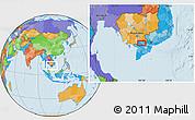 Political Location Map of Châu Ðốc