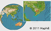 Satellite Location Map of Châu Ðốc