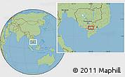 Savanna Style Location Map of Châu Ðốc
