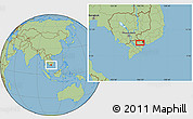 "Savanna Style Location Map of the area around 10°38'32""N,106°19'29""E"