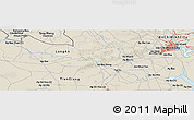 """Shaded Relief Panoramic Map of the area around 10°38'32""""N,106°19'29""""E"""