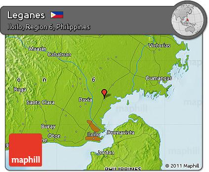 Free Physical Map Of Leganes - Leganés map