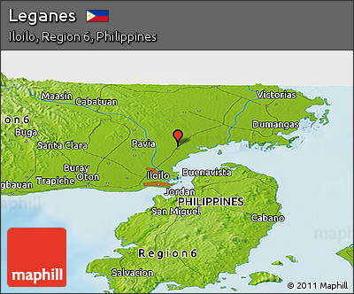 Free Physical Panoramic Map Of Leganes - Leganés map