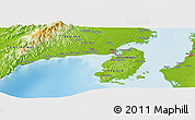 """Physical Panoramic Map of the area around 10°38'32""""N,122°28'29""""E"""