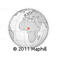 Outline Map of Mbalala, rectangular outline