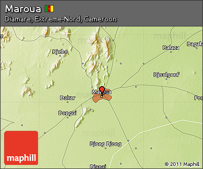 Free Physical Map of Maroua