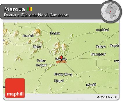 Free Physical Panoramic Map of Maroua