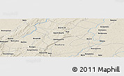 """Shaded Relief Panoramic Map of the area around 10°38'32""""N,1°46'29""""E"""