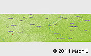 "Physical Panoramic Map of the area around 10° 38' 32"" N, 1° 37' 30"" W"