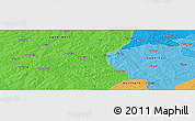 """Political Panoramic Map of the area around 10°38'32""""N,1°37'30""""W"""