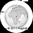 Outline Map of Keilak, rectangular outline
