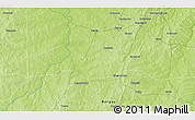 """Physical 3D Map of the area around 10°38'32""""N,2°37'30""""E"""