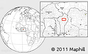 """Blank Location Map of the area around 10°38'32""""N,2°37'30""""E"""