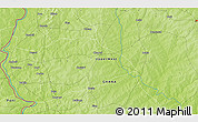 """Physical 3D Map of the area around 10°38'32""""N,2°28'30""""W"""
