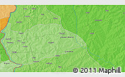 """Political 3D Map of the area around 10°38'32""""N,2°28'30""""W"""