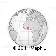 """Outline Map of the Area around 10° 38' 32"""" N, 2° 28' 30"""" W, rectangular outline"""