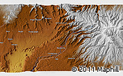 """Physical 3D Map of the area around 10°38'32""""N,37°28'30""""E"""