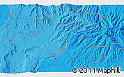 """Political 3D Map of the area around 10°38'32""""N,37°28'30""""E"""