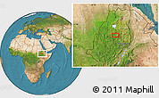 """Satellite Location Map of the area around 10°38'32""""N,37°28'30""""E"""