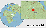 "Savanna Style Location Map of the area around 10°38'32""N,37°28'30""E"