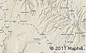 """Shaded Relief Map of the area around 10°38'32""""N,37°28'30""""E"""