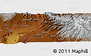 """Physical Panoramic Map of the area around 10°38'32""""N,37°28'30""""E"""