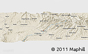 """Shaded Relief Panoramic Map of the area around 10°38'32""""N,37°28'30""""E"""