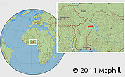 "Savanna Style Location Map of the area around 10°38'32""N,3°28'30""E"
