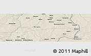 """Shaded Relief Panoramic Map of the area around 10°38'32""""N,3°28'30""""E"""