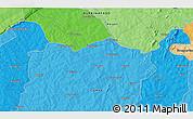 Political 3D Map of Gbossara