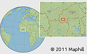 """Savanna Style Location Map of the area around 10°38'32""""N,4°10'30""""W"""
