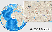 """Shaded Relief Location Map of the area around 10°38'32""""N,4°10'30""""W"""