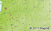 """Physical Map of the area around 10°38'32""""N,5°10'30""""E"""