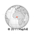 """Outline Map of the Area around 10° 38' 32"""" N, 5° 10' 30"""" E, rectangular outline"""
